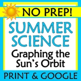 End of Year Summer Science Worksheet Activity Graph Sun Earth Distance