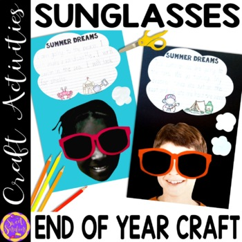 End of Year Summer Sunglasses Craft Activity