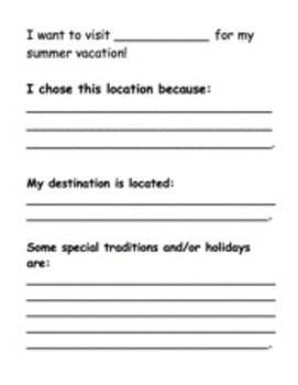 End of Year Summer Vacation Destination Suitcase