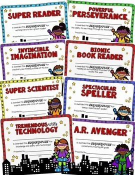 End of the Year Awards Superheroes Theme - EDITABLE