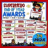 End of the Year Awards Superheroes Theme - EDITABLE