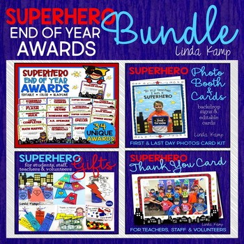 End of Year Awards BUNDLE- Editable Awards, Photo Booth & Student Gifts