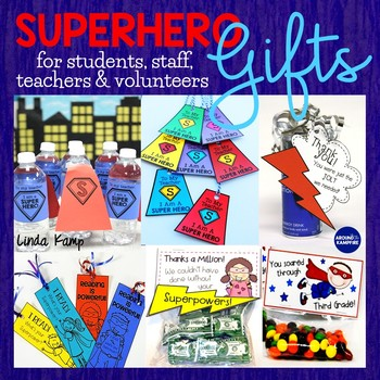 Superhero Gifts For Volunteers, Students & Staff - Back to