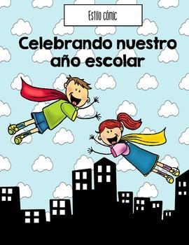 End of Year Superheri Memory Book SPANISH