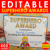 1Superhero Awards / Certificates - Bilingual: OVER 400 PAGES!