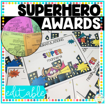 End of the Year Awards Superhero