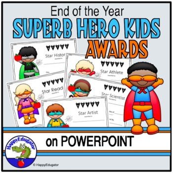 End of Year Superhero Awards {Editable} End of the Year Awards