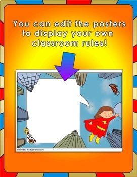 Back to School - Superhero Classroom Rules