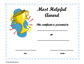 End of Year Superlative Award Certificates