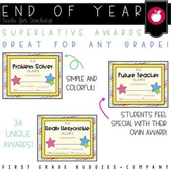 End of Year Superlative Awards (33 awards)