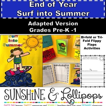 End of Year Activity for Pre-K-First Grade Surf into Summer