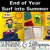 End of Year Surf into Summer Writing Flaps for Grades 1-4