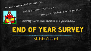 End of Year Survey (Middle School)