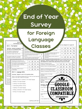 End of Year Survey for Foreign Language Classrooms