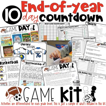 End of the Year Survival Kit Countdown for Grades 3-4