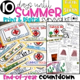 End of Year Survival Kit Countdown for Grades 5-6