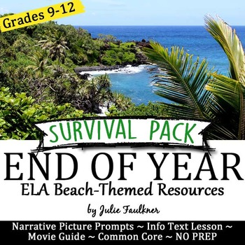End of Year English Lessons for Teens,  BUNDLE #1
