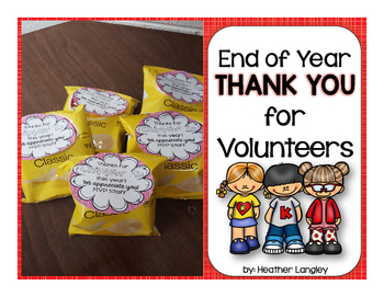 End of Year THANK YOU for Volunteers