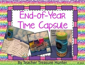 End of Year TIME CAPSULE freebie