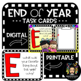 End of Year Task Card Activity- Digital and Printable!