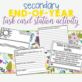 End of Year Task Card Station Activity for Secondary Students