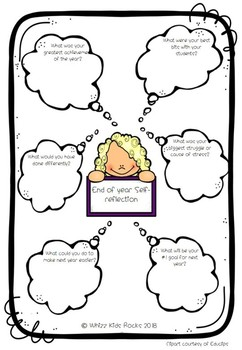 End of Year Teacher Self-Evaluation Worksheet