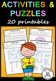 End of Year Activities and Puzzles – 20 assorted puzzles