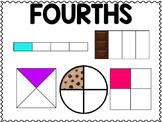 Test Prep Fraction Models: Fourths and Eighths ~ 4 School & Home