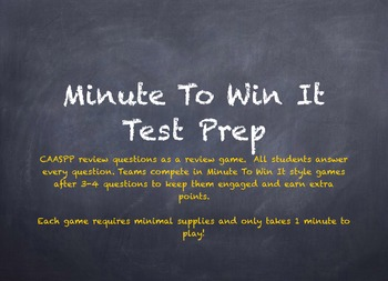 End of Year Testing Minute to Win It Review