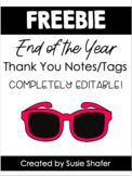 End of Year Thank Notes/Gift Tags (COLOR FREEBIE!)