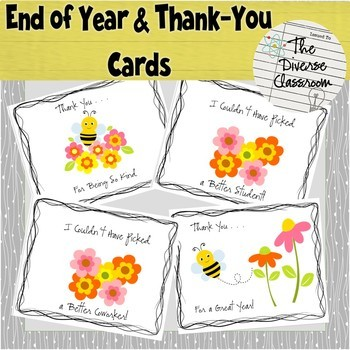 End of Year Thank You Cards