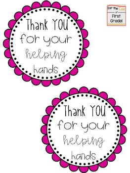 End of Year 'Thank You' Gift Tags
