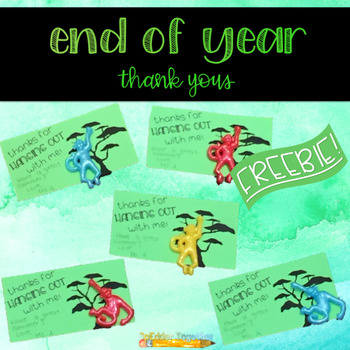End of Year Thank Yous