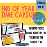 End of Year Time Capsule: Digital Choice Board