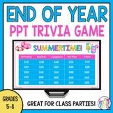 End of Year Trivia Game