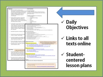 End of Year Unit Lesson Plans