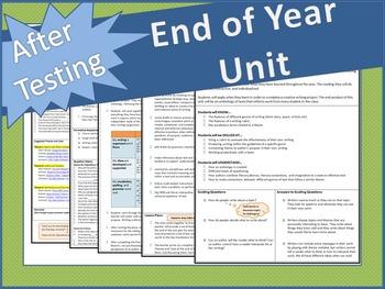 End of Year Unit Lesson Plans