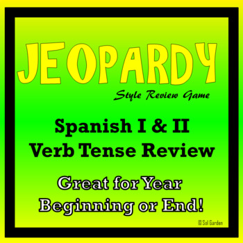 Verb Tense Jeopardy Review of Spanish I & II - Back to