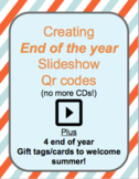 End of Year Video Slideshow QR Codes