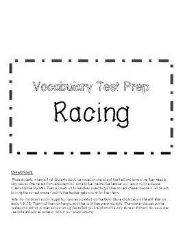 End of Year Vocabulary Review Games- Racing