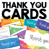 Watercolor Thank You Cards