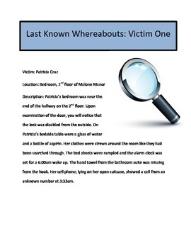 Reading and Math Activity: Whodunnit Mystery Version 1