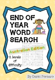End of Year Word Search - Australian