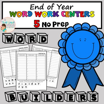 End of Year Word Work Centers