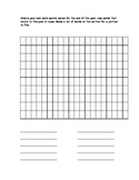 End of Year Word search - students create their own