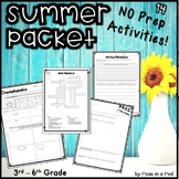 End of the Year Activities 3rd 4th 5th 6th Grade   Summer Crosswords