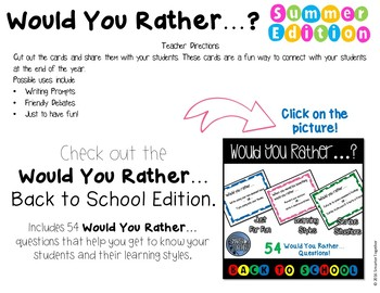 End of Year - Would You Rather…?