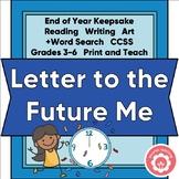 End-Of-Year Keepsake School Memories CCSS Grades 3-6 Printable Distance Learning