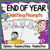 End of Year Writing Prompts {Narrative Writing, Informative & Opinion Writing}
