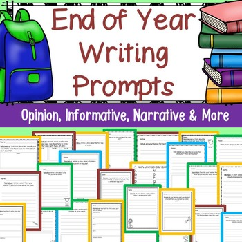 End of Year Writing Prompts: Grades K-3